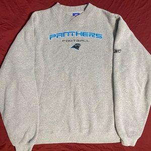 Carolina Panthers NFL crewneck Grey embroidered